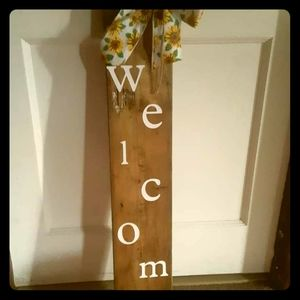 Beautiful welcome board
